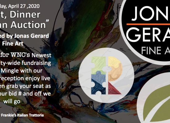 "NEW for 2020 """"Art, Dinner and an Auction"" Presented by Jonas Gerard Fine Art Hosted By Frankies Italian Trattoria"